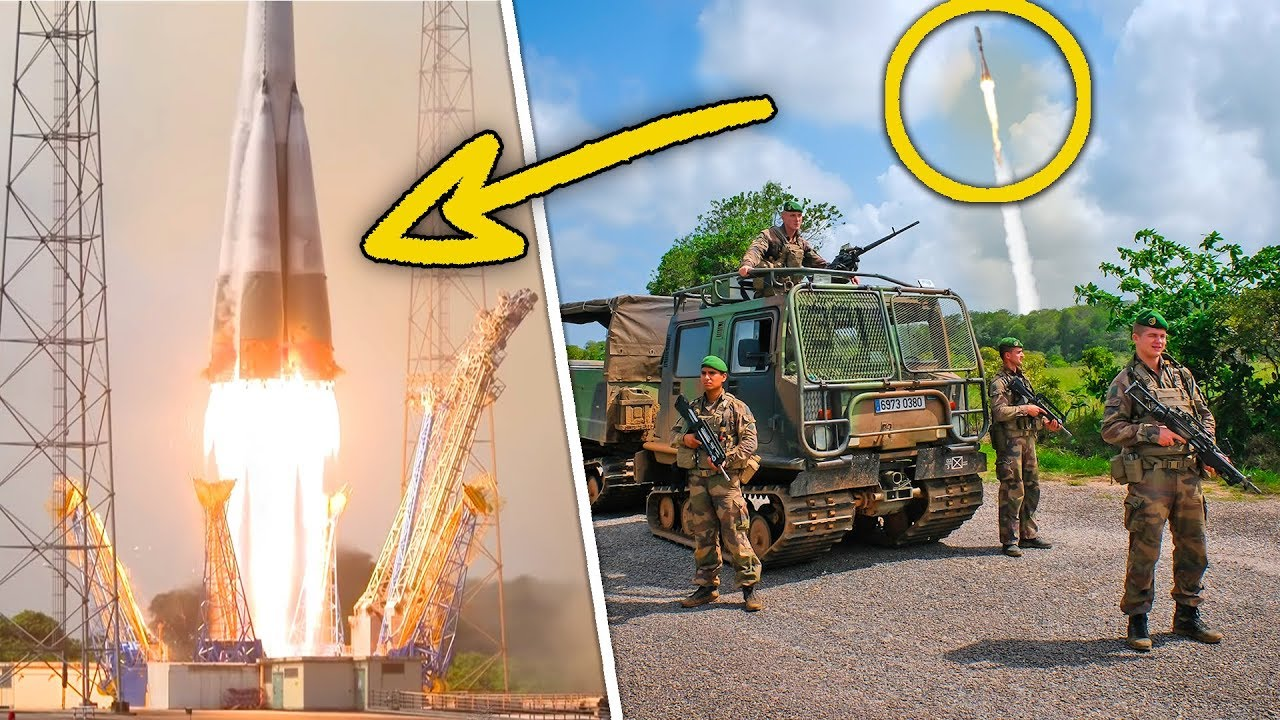 Ces militaires protègent une fusée au décollage?! (Immersion en Guyane)