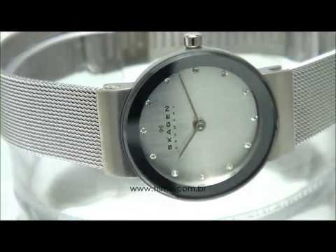 Relógio Skagen Freja 358SSSD I - YouTube 0bd3680229
