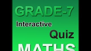 Math interactive practice tests for cbse 7th class