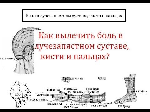 Как вылечить боль в лучезапястном суставе,кисти и пальцах? - YouTube