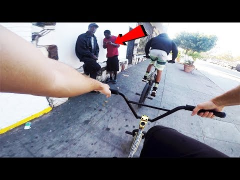 RIDING BMX IN COMPTON GANG ZONES #5