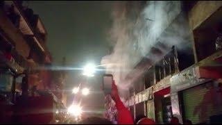 السيطرة على حريق عقار الزاوية الحمراء.. وإصابة 4 باختناقات