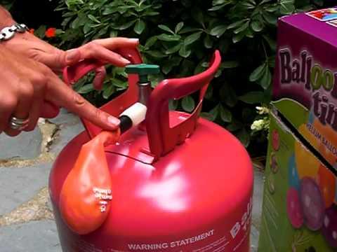Comment gonfler un ballon h lium youtube - Comment degonfler un ballon ...