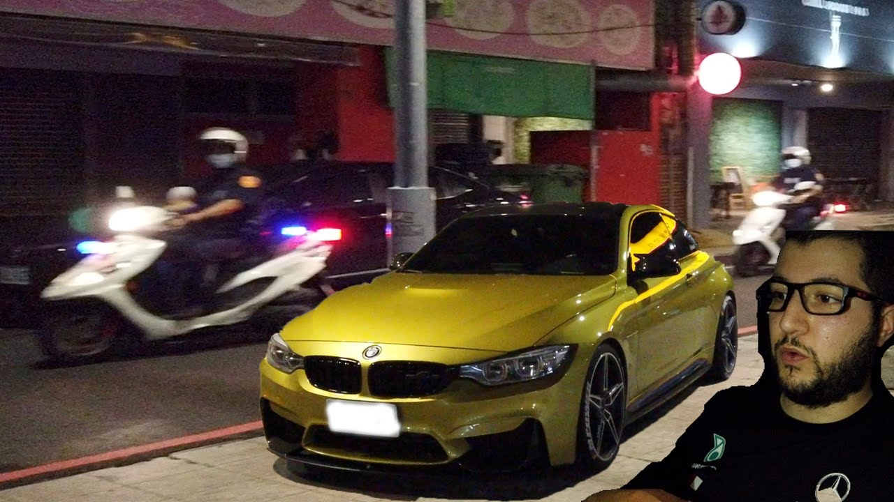 外國人開 BMW M4 AC Schnitzer ACS4 被警察攔下來 !
