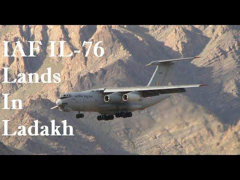 IAF IL-76 Aircraft Lands In Ladakh | Indian Air Force At Leh Air Base | India-China Standoff