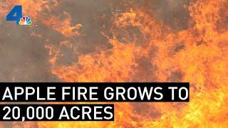 Firefighters Battle 20,000-Acre Apple Fire As Winds Change | NBCLA