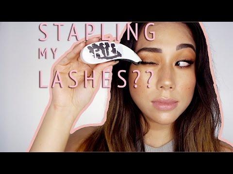 EYELASH STAPLER? Flirt Cosmetics Flashes Lash Applicator Review + Demo