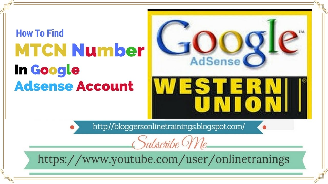 Here's A Quick Way To adsense money In Less Than recieve | Find MTCN No  (WU) No in Urdu and Hindi
