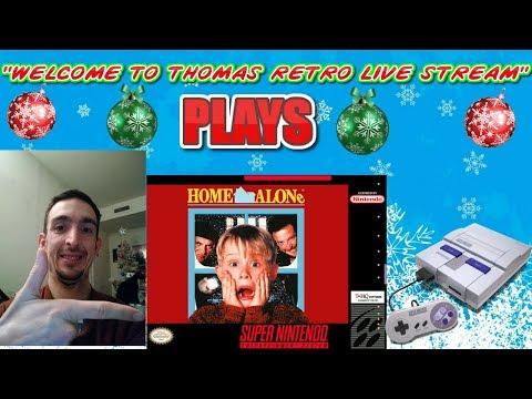 """WELCOME TO THOMAS RETRO GAMER STREAM PLAYS ""HOME ALONE"" (SNES)"""