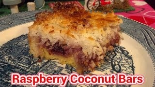 Raspberry Coconut Bars : Trailer Park Cooking Show