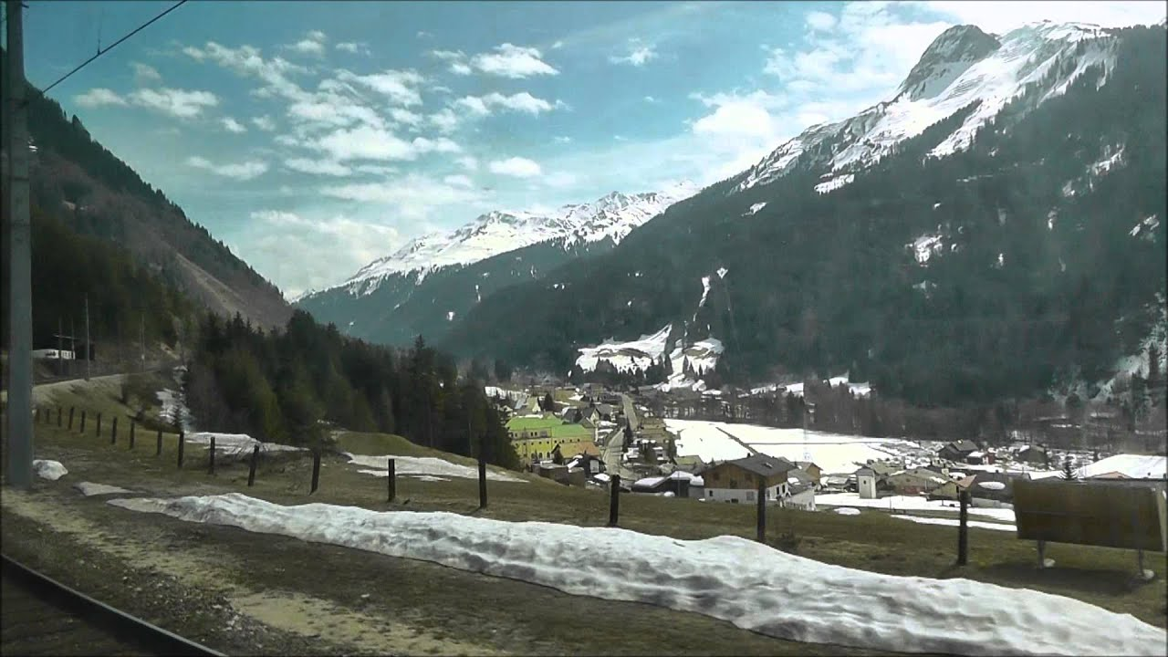 Arlberg P: Zurich to Innsbruck by Railjet train - YouTube