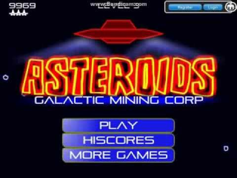 Asteroids Galactic Mining Corp - Flash Game
