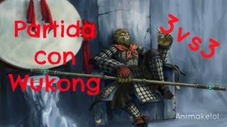 League of legends partida bastante graciosa con Wukong en 3 vs 3.