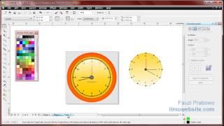 Tutorial CorelDraw Membuat Jam Dinding Menggunakan Transformation Rotate