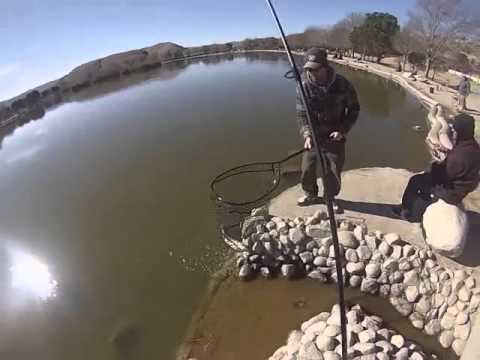 Hesperia lake fishing for trout youtube for Hesperia lake fishing report