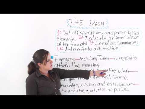 English Punctuation: The Dash