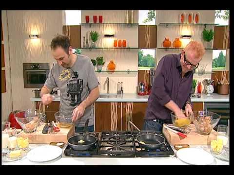 Chris Evans Prepares For The Omelette Challenge