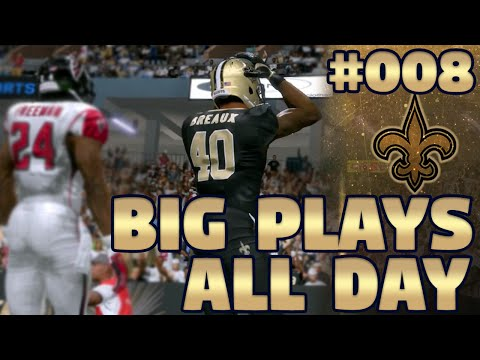 Madden NFL 17 New Orleans Saints Franchise Ep. 8 | Big Plays All Day