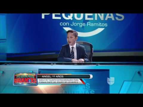 Angel Romero- Pequeños Gigantes USA/ Jorge Ramitos noticias- Rapper Angel J