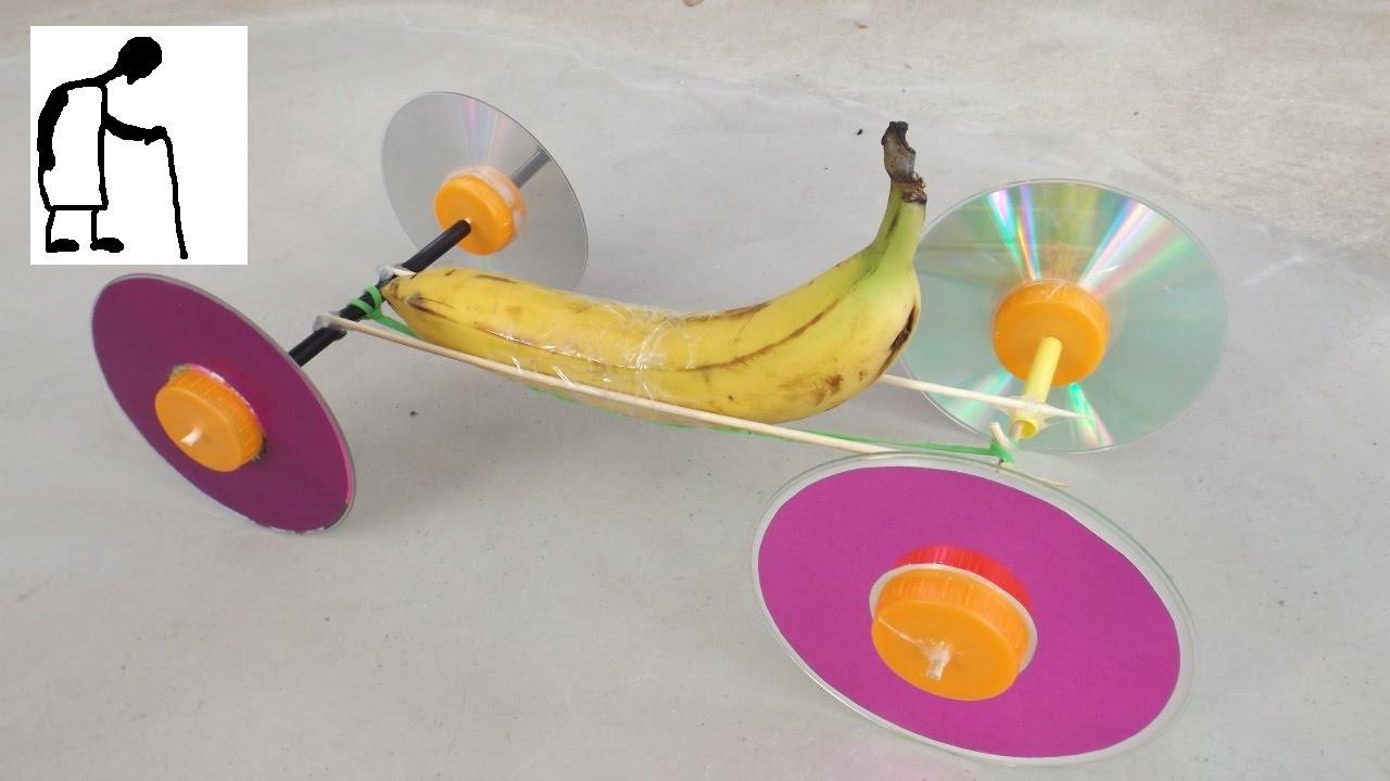 Rubber Band Powered Banana Car Youtube