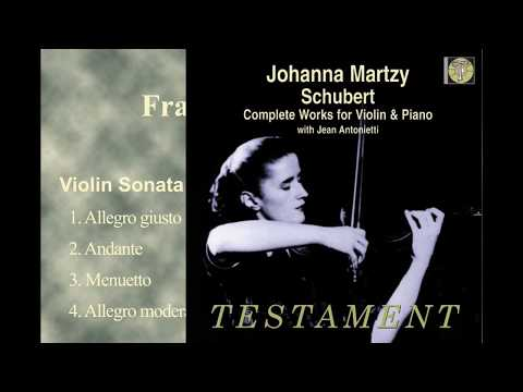 Schubert Violin Sonata in G minor D.408(Johanna Martzy 1955)