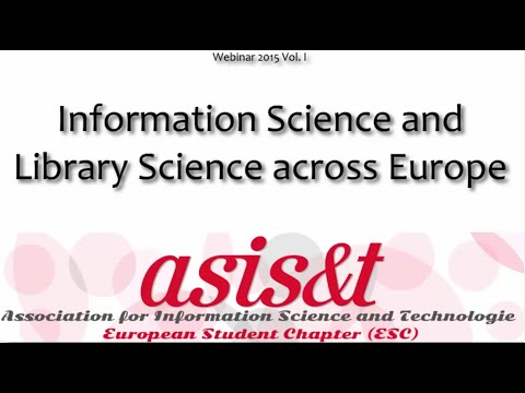 Information Science and Library Science across Europe
