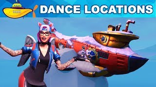 Submarine LOCATIONS - Dance on Top of a Submarine Locations - Fortnite Week 1 Challenges Season 7