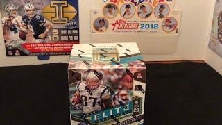 2018 Elite Football Hobby Box Packwars Style & Recent Pickups