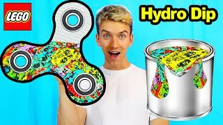HYDRO DIP LEGO FIDGET SPINNER!!
