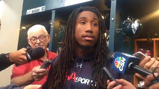Philadelphia Eagles cornerback Ronald Darby talks about his ankle injury