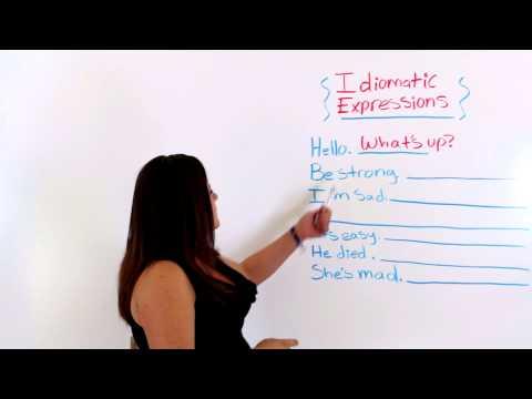 Conversational English: Idiomatic Expressions