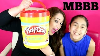 GIANT PLAY DOH BUCKET WITH TOYS Moana #MBBB |B2cutecupcakes | B2cuteCupcakes