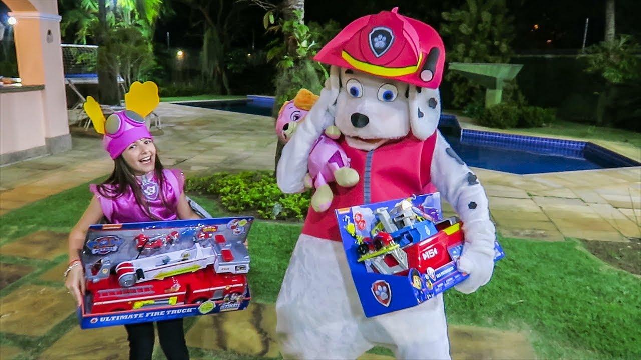 Procurando Brinquedos Luccas Neto Patrulha Canina Diversão MARSHALL GIGANTE !
