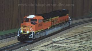 mth ho scale sd70ace test run