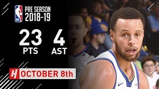 Stephen Curry Full Highlights Suns vs Warriors - 2018.10.08 - 23 Pts, 4 Assits!