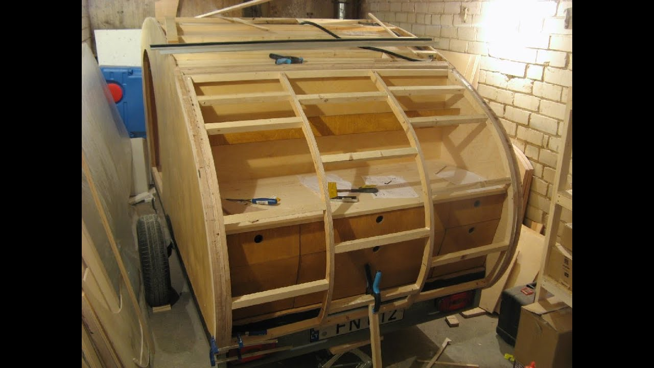 43 Day Teardrop Trailer Build The Galley Door Framing
