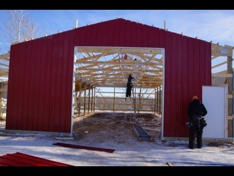 Small Pole Barn Garage