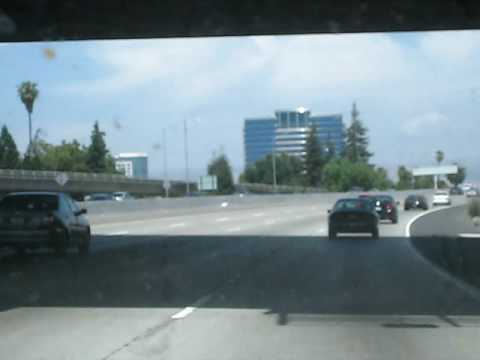 San Jose CA Skyline from Highway 280 Jack D Deal Videos
