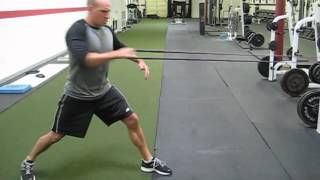 EricCressey.com: 1-arm Band Rotational Row with Weight Shift