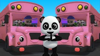 Колеса на автобусе | ребенок бао панда | детские стишки | автобусная песня | The Wheels On The Bus