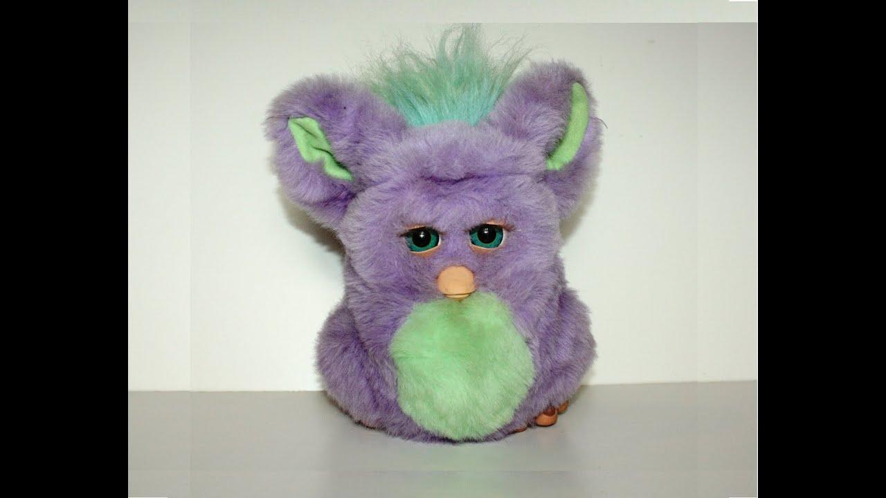Purple Funky Furby Talks Sing Joke Hasbro 2006 Youtube