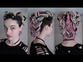 Braided Updo for Synthetic (or Real) Dreads -  Tutorial