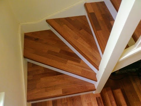 Quick step parquet laminate flooring on stairs youtube - Prix parquet quick step ...