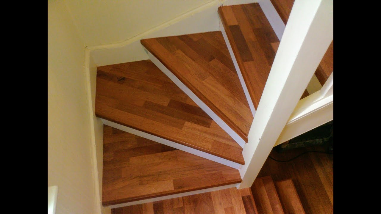 Quick Step Parquet Amp Laminate Flooring On Stairs Youtube
