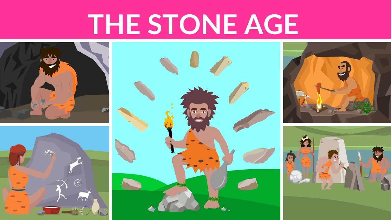 The Stone Age | Prehistoric age | Stone Age Humans | Video for kids