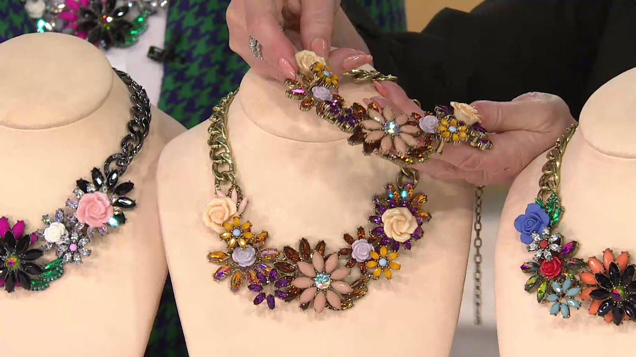 Joan Rivers Jeweled Blossoms 15 Necklace w 3 Extender with Jane