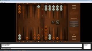 We hardly won. Internet Backgammon. Joc de table pe calculator | 1