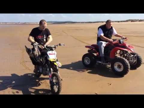 Pitbike M2R Racing 140 cc  * Redcar beach*  ®