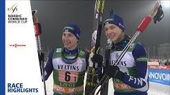 Race Highlights   Hirvonen/Herola delight home crowd   Lahti   Team Sprint   FIS Nordic Combined