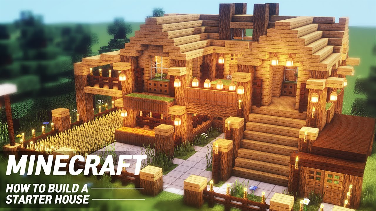 EASY Minecraft : STARTER HOUSE Tutorial  How to Build in Minecraft (#8)